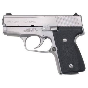 "Kahr Arms MK40 Semi Automatic Handgun .40 S&W 3"" Barrel 5 Rounds White Bar Dot Sights Hard Nylon Grips Steel Frame Matte Stainless Steel Finish M4043"