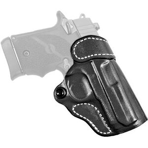 DeSantis Gunhide Criss-Cross SIG P938/ Kimber Micro9 OWB Cross Draw Belt Holster Right Handed Leather Black