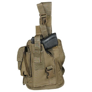 Voodoo Tactical Drop Leg Holster Medium to Large Pistols Left Hand Coyote