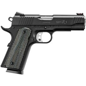 "Remington 1911 R1 Ultralight Commander .45 ACP Semi Auto Pistol 4.25"" Barrel 8 Rounds Synthetic Laminate Grips PDV Carbon Steel Finish"