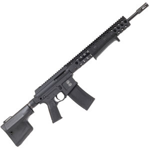 "Troy Industries Optics Ready AR-15 5.56 NATO Pump Action Rifle 16"" Barrel 10 Round Magazine TRX2 Style Hand Guard/Integrated Pump Action Matte Black"