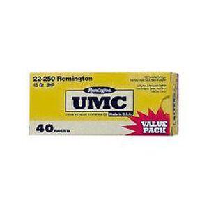 Remington UMC .22-250 Rem 45 Grain JHP 40 Round Box