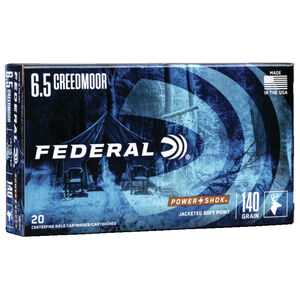 Federal Premium 6.5 Creedmoor Ammo 140-Grain 20 Round Box JSP