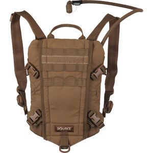 Source Tactical Rider 3 Liter Hydration Pack, Nylon, Coyote, MOLLE Compatible