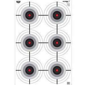"""Birchwood Casey Eze-Scorer """"Multiple Bull's Eye"""" Paper Target 23.00""""x35"""" Black and Yellow 5 Pack 37037"""