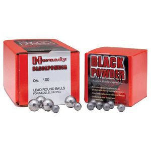 """Hornady Black Powder Muzzleloading Projectiles Lead Round Ball .40 Caliber.395"""" Diameter Cold Swaged Pure Lead 100 Count"""