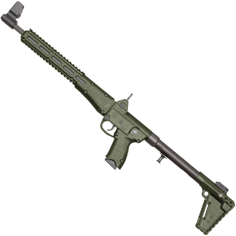 "Kel-Tec SUB-2000 G2 9mm Luger Semi Auto Rifle 16.25"" Barrel 17 Rounds M-LOK Compatible Beretta 92 Mags Adjustable Stock OD Green"