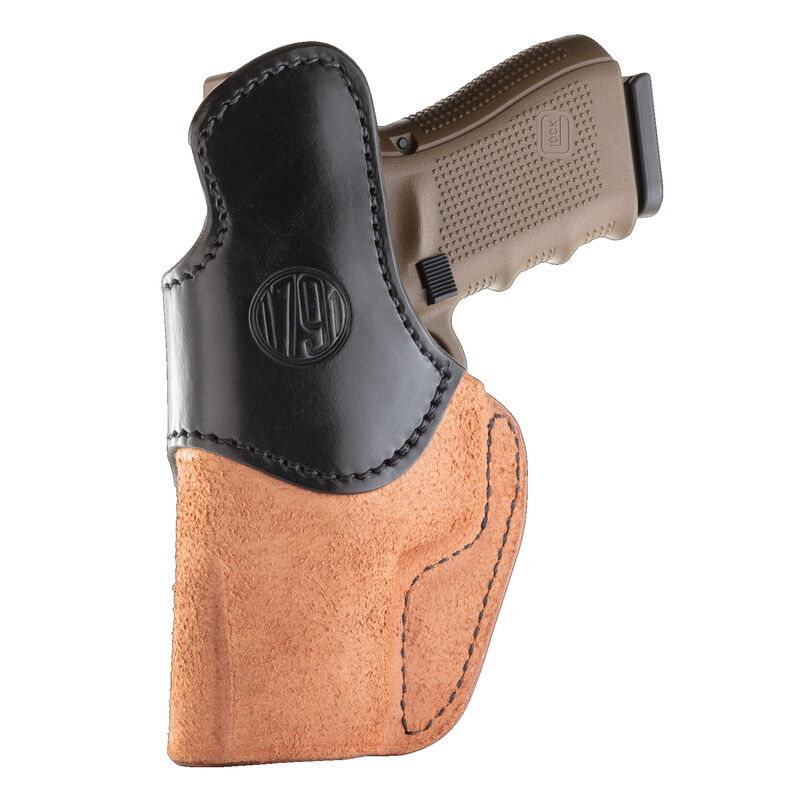 1791 Gunleather Rigid RCH-4 Multi-Fit IWB Concealment Holster for Full Size/Compact Semi Auto Pistols Right Hand Draw Leather Black/Brown