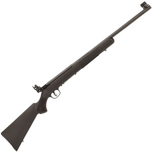 "Savage Mark I FVT .22 LR Left Handed Single Shot Bolt Action Rimfire Rifle 21"" Heavy Barrel 1 Rounds Peep Sights Black Synthetic Stock Black Finish"