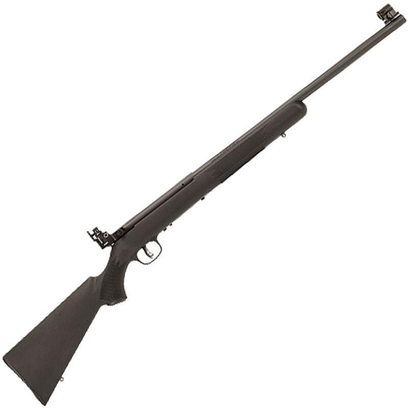 "Savage Mark I FVT .22 LR Left Handed Single Shot Bolt Action Rimfire Rifle 21"" Heavy Barrel 1 Rounds Peep Sights Black Synthetic Stock Black Finish"