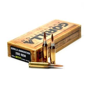 Gorilla Ammunition .260 Remington Ammunition 20 Rounds Berger Tactical Match 130 Grains GA260130BHT