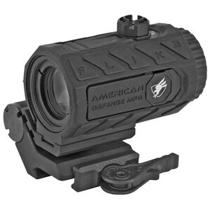 American Defense Manufacturing FLIK3 3x Magnifier with Ambidextrous Transition Mount and Titanium QD Lever Aluminum Black ADM FLICK-3X