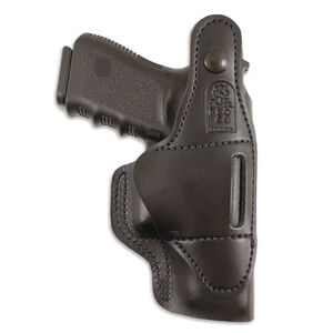 DeSantis Gunhide Dual Carry II IWB/OWB Holster Fits GLOCK 19/23/32/36 and SIG P228/P229 Pistols Left Hand Draw Leather Black