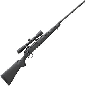 """Remington 700 ADL Package .22-250 Rem Bolt Action Rifle 4 Rounds 24"""" Barrel with 3-9x40mm Scope Synthetic Stock Black"""