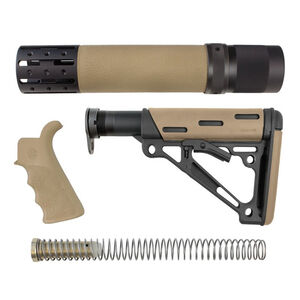 Hogue AR-15 OverMold Furniture Kit Rifle Length Forend Flat Dark Earth 15378