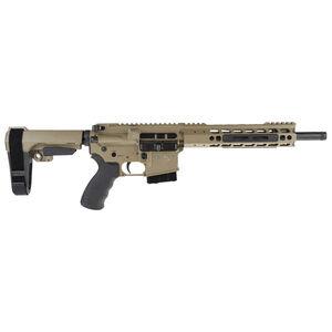 "Alexander Arms P-50 Highlander .50 Beowulf AR-15 Semi Auto Pistol 12"" Barrel 7 Rounds Manticore Freefloat Handguard SB Tactical Pistol Brace FDE Finish"