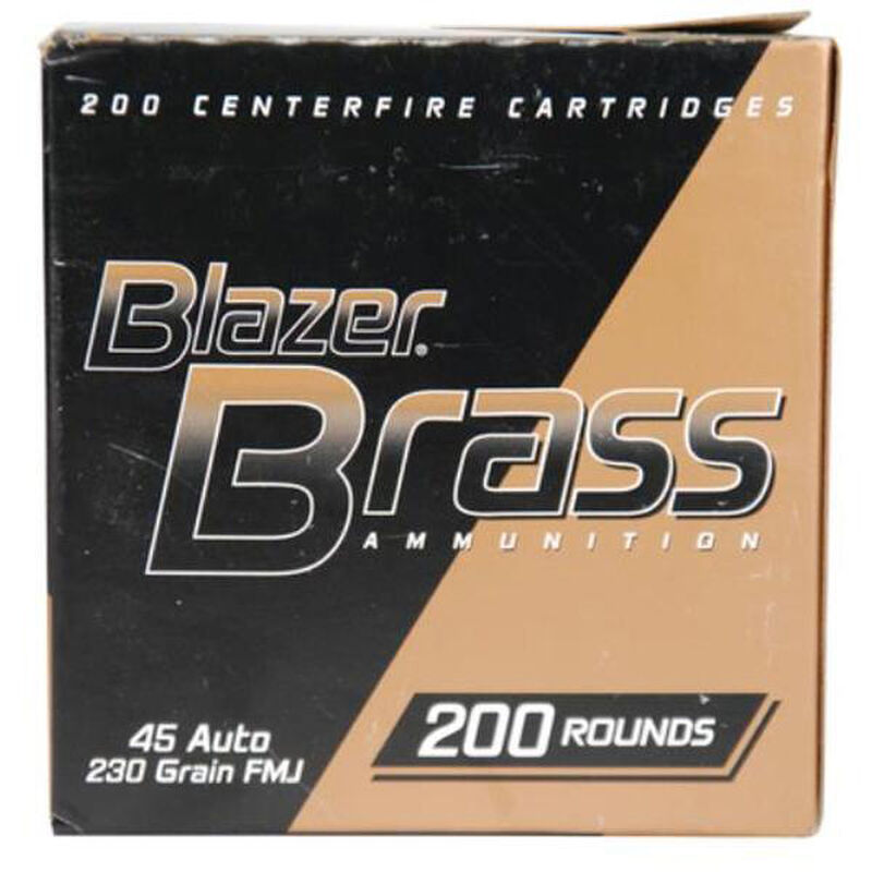 CCI Blazer Brass .45 ACP Ammunition 50 Rounds FMJ 230 Grains 5230