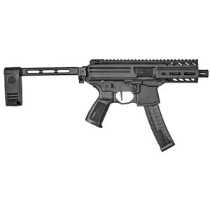 "SIG Sauer MPX K 9mm Luger Semi Auto Pistol 4.5"" Barrel 30 Rounds Timney Trigger SIG PCB Pistol Stabilizing Brace Anodized Finish Matte Black"