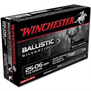 Winchester Silvertip .25-06 Rem Ammunition 20 Rounds, BST, 115 Grains