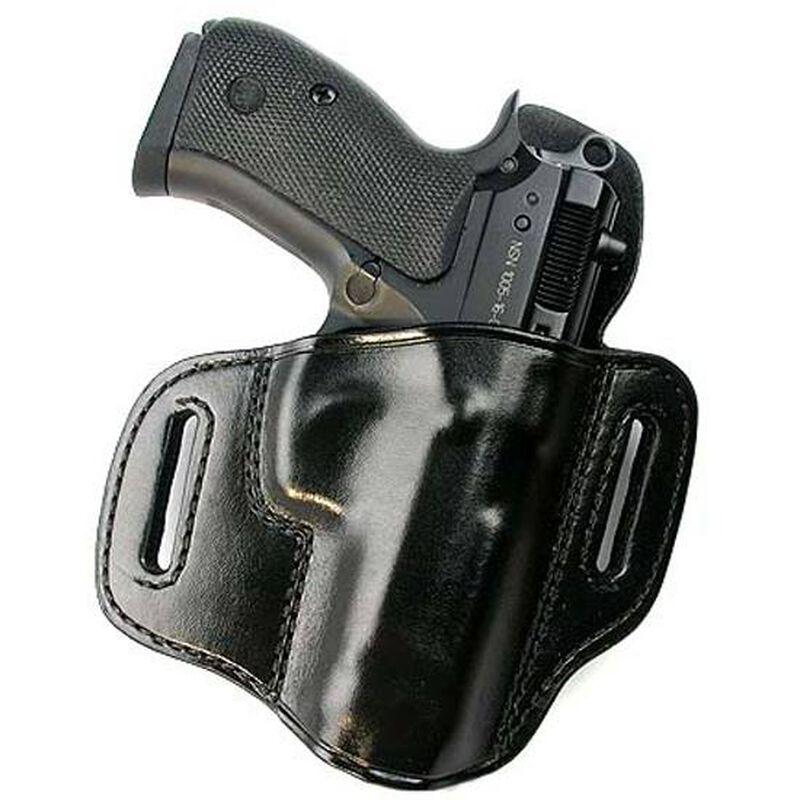 """Don Hume 721OT S&W J Frame 2""""/Taurus 85 Pancake Open Top Holster Right Hand Leather Black J335801R"""