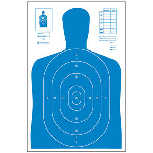 "Action Target B-27E Economy Target 23"" x 35"" Paper Blue 100 Pack"