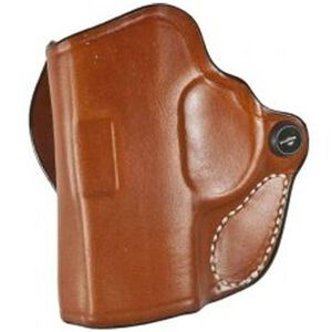 DeSantis Mini Scabbard Belt Holster For GLOCK 43 Left Hand Leather Tan 019TB8BZ0