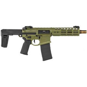 "Noveske Gen 4 N4-PDW Diplomat 5.56 NATO AR-15 Pistol 8"" Barrel 30 Rounds Collapsible Brace Ambi Controls Bazooka Green Cerakote"