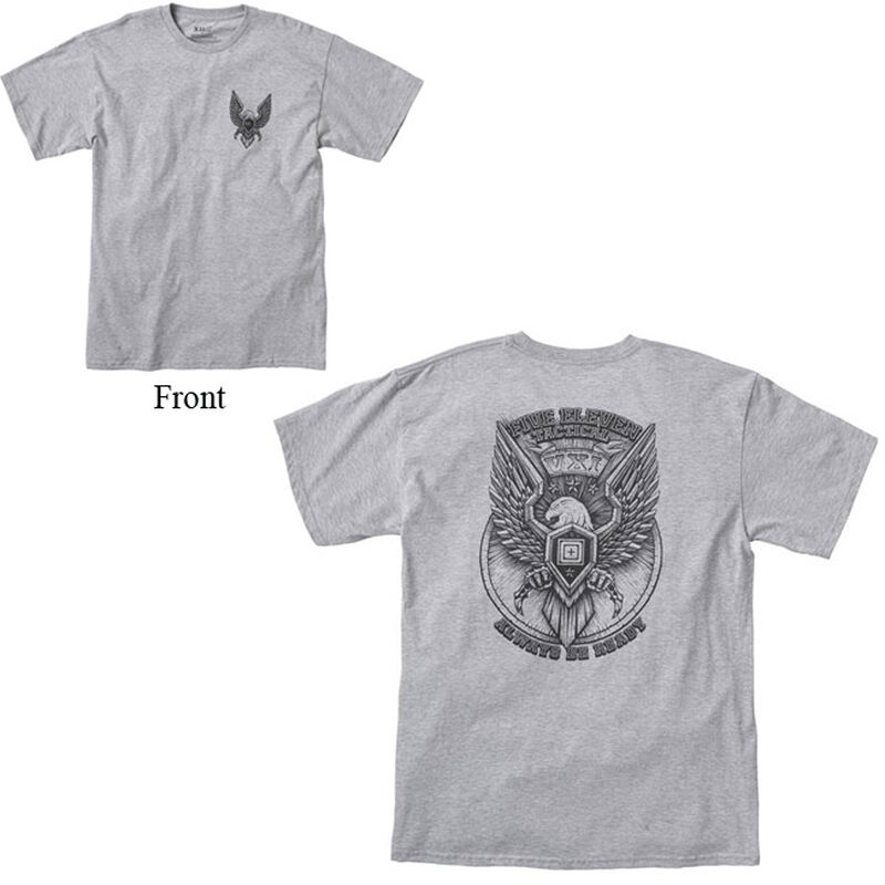 5.11 Tactical Men's Eagle Rock Cotton Crew Neck T-Shirt Medium Royal Blue 41195AD