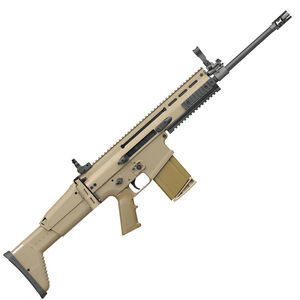 "FN SCAR 17S .308 Winchester Semi Auto Rifle 16"" Barrel 20 Rounds Ambidextrous Controls Monolithic Upper Receiver Adjustable Fixed Stock Flat Dark Earth Finish"