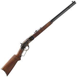 "Winchester 1873 Sporter 45 LC Lever Action Rifle 14 Rounds 24"" Barrel Walnut Stock Blued"