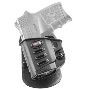 Fobus Evolution Paddle Holster S&W M&P Bodyguard With 380 Crimson Trace Laser Left Hand Polymer Black SWBGLH