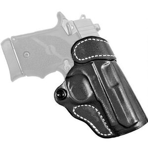 DeSantis Gunhide Criss-Cross SIG P365 OWB Cross Draw Belt Holster Right Handed Leather Black