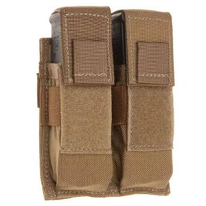 Tac Shield Pistol Double Magazine Pouch MOLLE Coyote Tan T3602CY