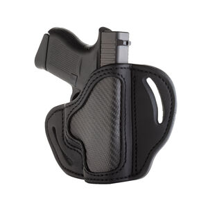 1791 Gunleather Project Stealth CF-BHC Multi-Fit OWB Belt Holster for Sub-Compact/Pocket Semi Auto Models Right Hand Draw Carbon Fiber/Leather Black