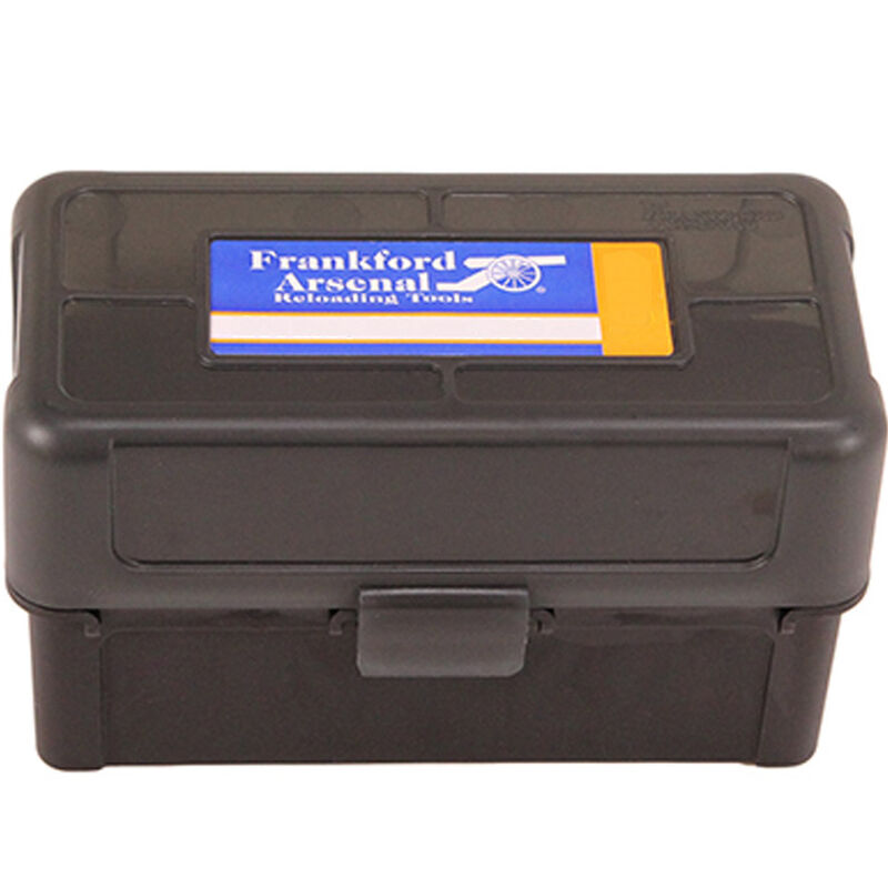 Frankford Arsenal Plastic Hinge-Top Ammo Box 50 Round .243 Win/308 Win and Similar Polymer Gray
