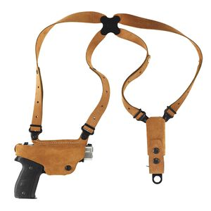 Galco Classic Lite Shoulder Holster System GLOCK 17/19/22/23/31/32 Right Hand Draw Leather Natural Finish