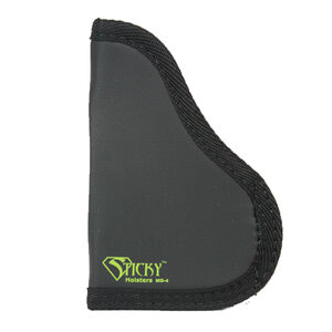 """Sticky Holster MD-4 Medium Modified For Light/Laser IWB Holster Ambidextrous Single Stack/Sub-Compact Semi Auto Pistols up to 3.6"""" Barrels Sticky Skin Material Matte Black Finish"""