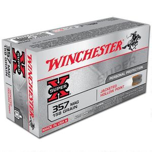 Winchester Super X .357 Magnum Ammunition 500 Rounds, JHP, 158 Grain