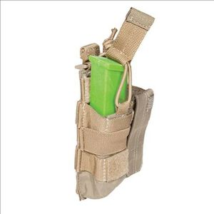 5.11 Tactical Double Pistol Magazine Bungee Cover SlickStick and MOLLE Elastic Compression Sandstone 56155