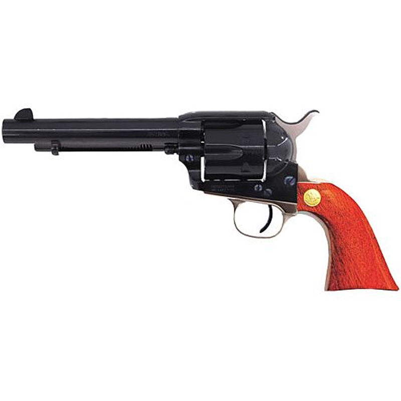 "Cimarron Pistoleer Single Action Revolver .357 Mag 5-1/2"" Barrel 6 Rounds Walnut Grips Blue with Nickel Backstrap and Triggerguard"