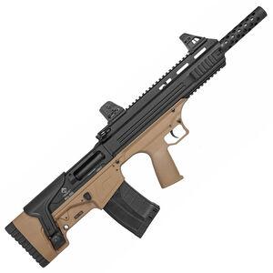 "ATI Bull-Dog SGA 12 Gauge Semi Automatic Bullpup Shotgun 18.5"" Barrel 3"" Chamber 5 Rounds Fixed Synthetic Stock Matte Black/Tan Finish"