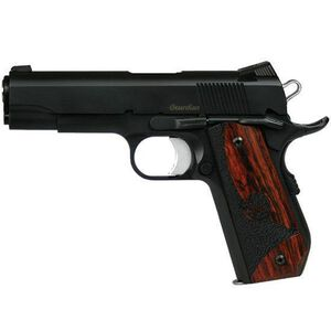 "CZ Dan Wesson Guardian 1911 Semi Auto Handgun 9mm Luger 4.25"" Match Barrel 9 Rounds Novak Night Sights Aluminum Frame Wood Grips Black Finish 01985"