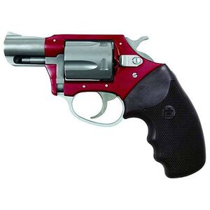 "Charter Arms Undercover Lite Revolver .38 Special +P 2"" Barrel 5 Round Black Rubber Grip Aluminum Red Stainless Finish 53823"