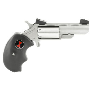 "North American Arms Black Widow Derringer .22 Magnum 2"" Heavy Barrel 5 Rounds Oversized Rubber Grips Adjustable Sights NAA-BW-MA"