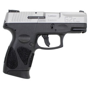 "Taurus PT111 G2C Compact Semi Auto Pistol 9mm Luger 3.2"" Barrel 12 Rounds Double Action Only 3 Dot Sights Matte Stainless Steel Slide/Black Polymer Frame"