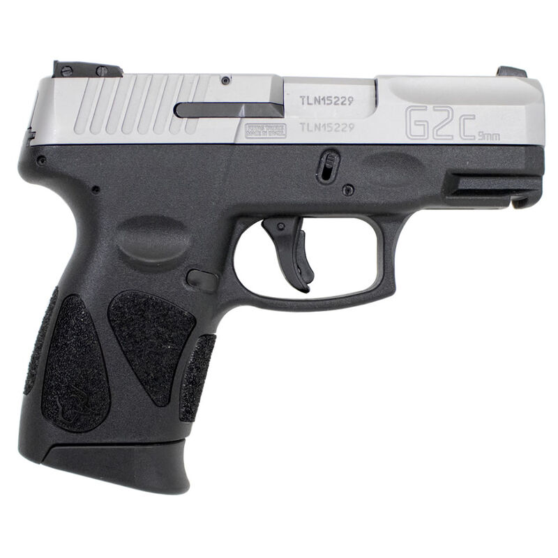 """Taurus PT111 G2C Compact Semi Auto Pistol 9mm Luger 3.2"""" Barrel 12 Rounds Double Action Only 3 Dot Sights Matte Stainless Steel Slide/Black Polymer Frame"""