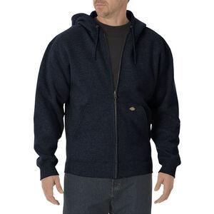 Dickies Men's Midweight Fleece Full Zip Hoodie Medium Dark Navy