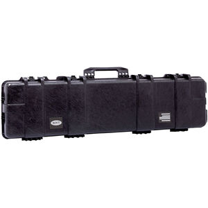 "Boyt H51 Double Long Gun Case 53.5""x17.25""x7"" Water Resistant O-Ring Full Length Gasket High Density Egg Crate Foam Injection Molded Hard Case Matte Black Finish"