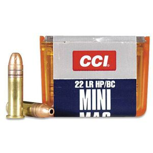 CCI Mini-Mag .22LR Ammunition 36 Grain Plated Hollow Point 1260 fps