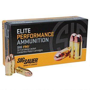 SIG Sauer .38 Super +P Elite Ammunition 50 Rounds FMJ 125 Grains E38SUB50